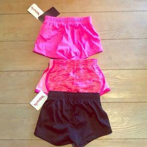 3 pairs of toddler soccer shorts